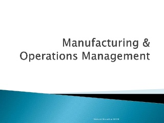 Manufacturing - Operations