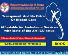 Most Secure and Safe Air Ambulance in Delhi by Panchmukhi