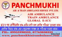 Book Hi-Tech ICU attached Private Charter Air Ambulance in Guwahati by Panchmukhi