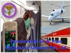 Hire World's No 1 Panchmukhi Air Ambulance in Ranchi with Medical Staff