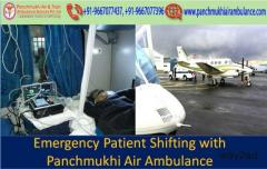 Panchmukhi Air Ambulance in Dibrugarh for Patient Transfer