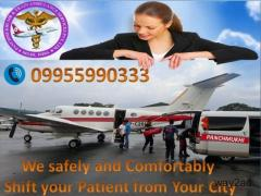 Get Transcendent ICU and Prominent Charter Air Ambulance Service in Varanasi
