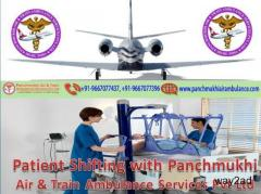 Bed to Bed Medical Transport with Panchmukhi Air Ambulance Service in Siliguri