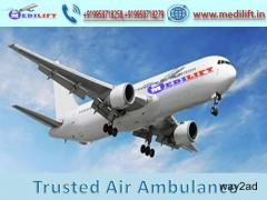 Pick Secure and Country Best Air Ambulance from Jabalpur to Delhi