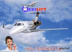 Take Country Best Air Ambulance Service Bangalore by Medilift