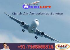 Avail Advanced Medical Facility Air Ambulance Service in Dibrugarh