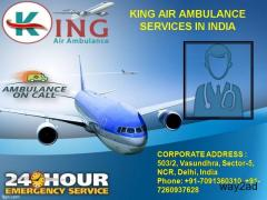 Hire ICU Air Ambulance service in Ahmedabad by King Air Ambulance
