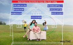 Premium Villa Plots for sale  Near  Shankarpally,Near to Gachibowli
