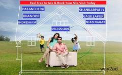 Residential plots for sale in Hyderabad  Bhanoor, Near to Gachibowli