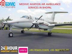Urgent Transferable Air Ambulance service in Bhopal by Medivic Aviation