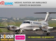 Best Air Ambulance services in Bagdogra by Medivic Aviation
