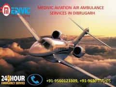 Affordable Air Ambulance services in Dibrugarh by Medivic Aviation