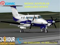Air Ambulance services in Siliguri by Medivic Aviation