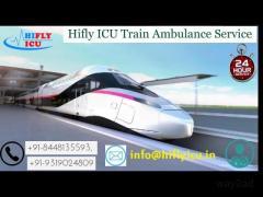 Book 24*7 Faster Train Ambulance Service in Kolkata By Hifly ICU
