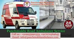 Panchmukhi Road Ambulance Service in Green Park, Delhi At a Low-Cost