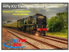 Avail Low budget ICU Train Ambulance Service in Bagdogra By Hifly ICU