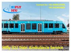 Low Fare ICU Train Ambulance Service in Kanpur By Hifly ICU