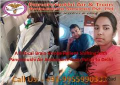 Panchmukhi Air Ambulance Service in Patna Onboard Imparts Medical Assistance