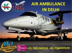 Avail Perfect and Reliable Air ambulance Services in Delhi by King