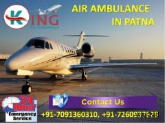Book Excellent Medical ICU Care Air Ambulance Services in Patna by King