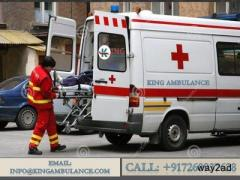 Book Trustworthy Road Ambulance Service in Ranchi with King Ambulance