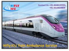 Minimal Fare Train Ambulance Service in Bagdogra By Hifly ICU