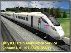 Best ICU Train Ambulance Service in Kanpur By Hifly ICU
