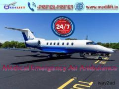 Easily Hire Paramount Air Ambulance Service in Kolkata by Medilift
