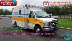 Get ICU Ground Ambulance Service in Noida By Panchmukhi Ambulance