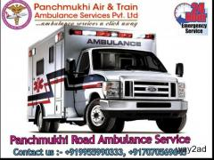 Low-Cost ICU Road Ambulance Service in Saket, Delhi By Panchmukhi Ambulance