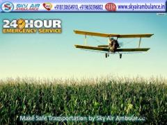 Take World Fastest Air Ambulance Service in Guwahati by Sky Air Ambulance