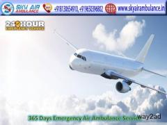 Use Very Trustful Air Ambulance Service in Dibrugarh by Sky Air Ambulance