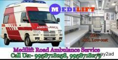 Get Medical Support Ambulance Service in Saket, Delhi By Medilift Ambulance