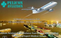 Avail 24*7 Hours Air Ambulance Service in Varanasi by Pelicon Aviation