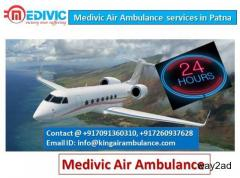 Medivic Air Ambulance Services in Patna and Delhi-Excellent Solution