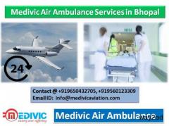 Medivic Air Ambulance in Bhopal-Take off Flight in Low Cost