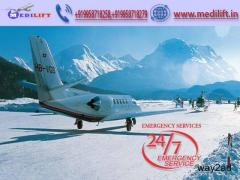 Hire ICU Facility Air Ambulance Service in Gorakhpur by Medilift