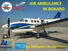 Get Life-Saving Full Advanced Medical Care Air Ambulance in Bokaro by King