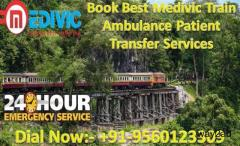 Get Emergency Train Ambulance Service in Kolkata by Medivic Aviation