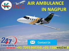 Avail Ultra Modern ICU Support Charter Air Ambulance in Nagpur by King