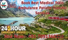 Get King Train Ambulance Services in Delhi with the Complete Medical Facility