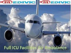 Pick Full Hi-fi Exigency Care Air Ambulance from Mumbai to Delhi by Medivic
