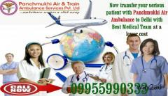 Well customized and Equipped Air Ambulance from Delhi by Panchmukhi Air Ambulance