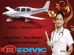 Use the Superb Emergency Shifting Air Ambulance from Patna to Delhi by Medivic