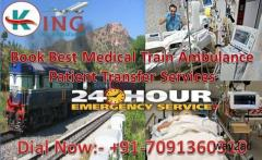 Get Book Medical Support Train Ambulance from Patna with Medical Team