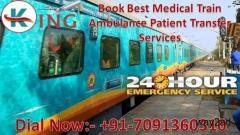 Get King Train Ambulance from Kolkata at Low-Cost with Medical Facility