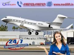 Utilize ICU Facility Air Ambulance Service in Gorakhpur by Medilift