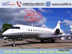 Hire Medilift Air Ambulance Service in Siliguri with ICU Facility