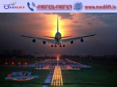 Book Finest and Fast Air Ambulance Service in Silchar by Medilift