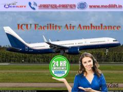 Pick ICU Emergency Commercial Air Ambulance Service in Bagdogra